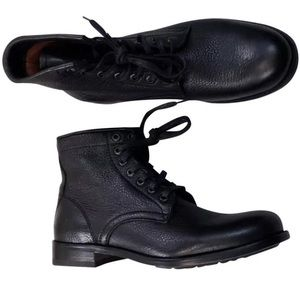 FRYE Tyler Lace Up Combat  Women black New Boots